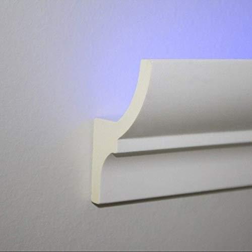 Profilo cornice strip Led illuminazione indiretta soffusa veletta a soffitto parete incasso o esterno cartongesso verniciabile