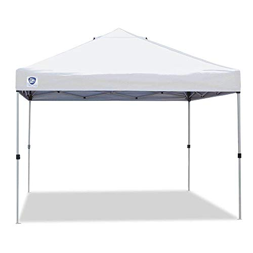 Z-Shade ZSBP10VNTWH-S 10 by 10 Foot White Venture Straight Leg Canopy and Emergency Tent Shelter for Outdoor and Indoor Use, 100 Square Foot Coverage