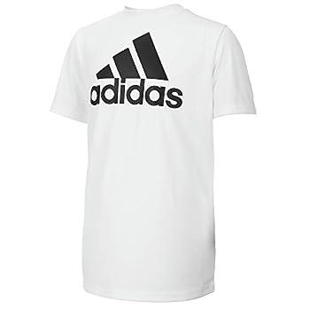 adidas Boys  Big Short Sleeve AEROREADY Performance Logo Tee T-Shirt White Large