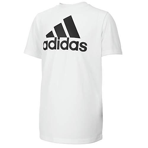 adidas Boys' Big Stay Dry Moisture-Wicking AEROREADY Short Sleeve T-Shirt, White, Large