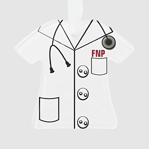 onepicebest Christmas Tree Hanging Ornaments, Fnp Lab Coat Ornament Xmas Customizable for Holiday Wedding Party Decoration Tree Ornaments, Adorable Xmas Gifts