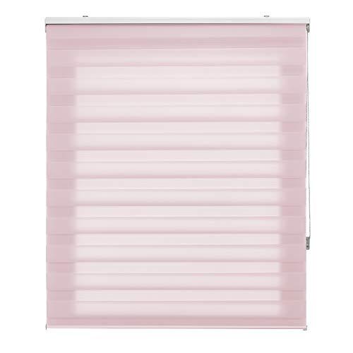 Storalia - Estor Alba - Estor Enrollable translúcido - Estor Rosa - 180x250 cm