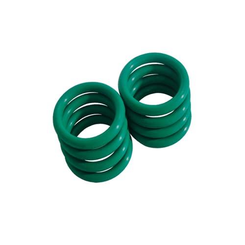 Junta tórica de goma de flúor, arandela de goma anillo de sellado redondo, 15 mm OD 13 mm ID 1 mm de ancho, anillos de junta de juntas de sellado, verde, 50 unidades
