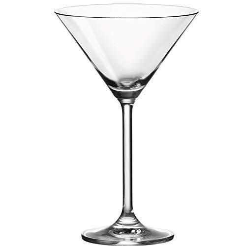 Leonardo Daily Cocktail-Gläser, Cocktail-Glas mit Stiel, spülmaschinenfeste Cocktail-Kelche, 6er Set, 270 ml, 063320