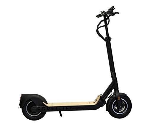 EGRET-Ten V4 e Scooter Special Edition| StVZO | schwarz/Holz, Einheitsgröße