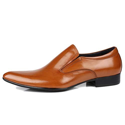 LIXIYU heren leer kant vrijetijdsschoenen moesvolle Oxford schoenen avondschoenen formele schoenen ademend