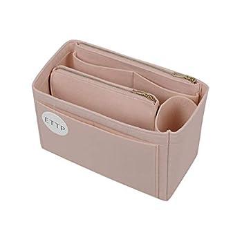 Purse Organizer Felt Bag Organizer Insert For Speedy Neverfull Tote Handbag 6 Colors 3 Sizes  Large Beige