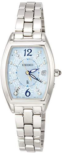 [セイコーウォッチ] 腕時計 ルキア LUKIA(ルキア) ソーラー電波修正 サマー限定 限定2,500本 スワロフスキー入り白蝶貝文字盤 ガラス入りりゅうず プラチナダイヤシールド SSVW171 レディース シルバー