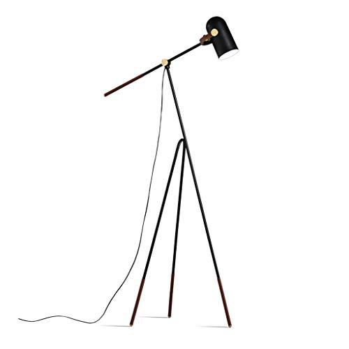 Allamp Inicio, Pesca novedad la luz del piso-Lámpara de Nordic Industrial viento creativo trípode brazo largo luz del piso Gama de iluminación ascendente Para aprender de coser en sala de estar y dorm