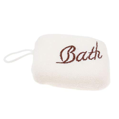 Generic Body Scrubber Éponge de Nettoyage Exfoliante et Massage pour Bain Douche - Blanc