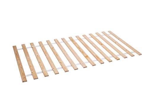 AZZAP Rollrost 100x200cm Rolllattenrost Lattenrost Bettrost Holzlatten 14 Latten Rost