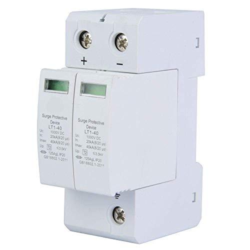 DC Überspannungsschutz PV 2 Polig Photovoltaik Haushalts Blitzschutz Niederspannungsableiter