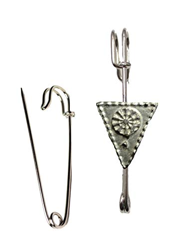 FT308 Darts Pennant 2.6x2.9cm Scarf , Brooch and Kilt Pin Pewter 3' 7.5 cm POSTED BY US GIFTS FOR ALL 2016 FROM DERBYSHIRE UK