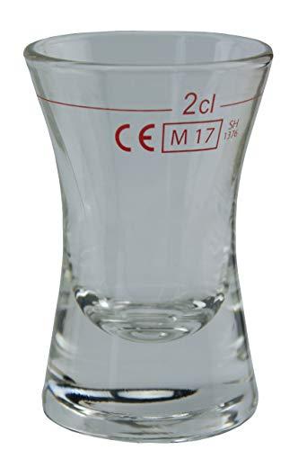 TableRoc 702620 Wachtmeister Schnapsglas, Shotglas, Stamper, 28ml, mit Rotring bei 2cl, Glas, transparent, 24 Stück