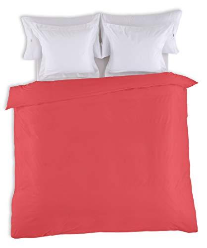 ESTELA - Funda nórdica Combi Color Rojo - Cama de 90 cm. - 50% Algodón / 50% Poliéster - 144 Hilos
