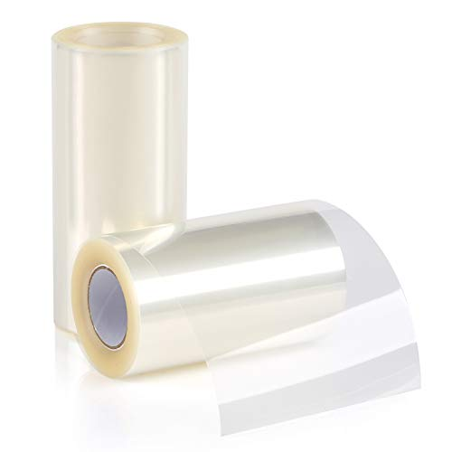 GWHOLE 2 Rollos de Acetato Transparente Pastel para Decoración de Repostería Pasteleria Chocolate Mousse - 2 Rollos: 10m* 10cm, 10m* 8cm
