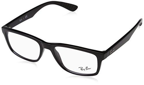 Ray-Ban 0rx 7063 2000 54 Monturas de gafas, Shiny Black, Hombre