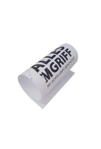 iMGriff, Corona Papier-Griffschutz für Einkaufswagen (50 St. Packung), Virenschutz Türklinken, einfache Handhabung durch Einstecklasche