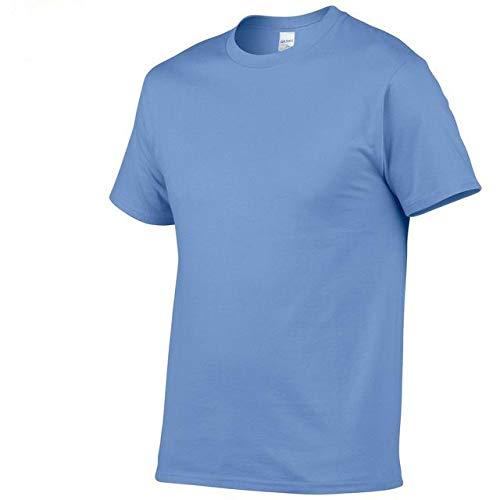 DSHRTY Sommeroberteil,Neue einfarbige T-Shirt Herren schwarz und weiß 100% Baumwolle T-Shirts Sommer T-Shirt Boy T-Shirt Tops, Carolan, S.