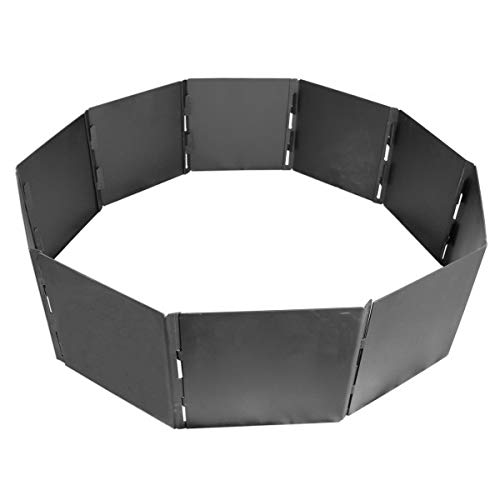Titan Great Outdoors Portable Fire Pit Ring 40' Diameter Heavy Steel for Campfires and Bonfires