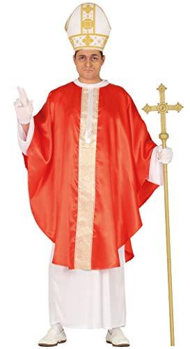 Guirca- Costume Papa Uomo Taglia L 52/54, Colore Bianco e Rosso, 88617