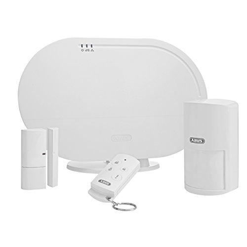 ABUS Smartvest Funk-Alarmanlage & App FUAA35001A- Basis Set - Zentrale, App, Öffnungs- und Bewegungsmelder, Fernbedienung und Zubehör - 77442