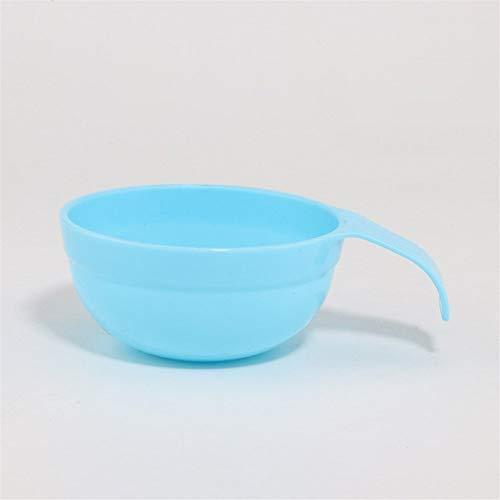 WYXMMW outils de masque de beauté masque de bricolage bol en plastique avec un film de réglage de la poignée alginique bol en poudre douce dédiée (Size : Light Blue)