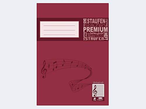 Bacher 10115 - Notenhefte A4 hoch, 8 Blatt