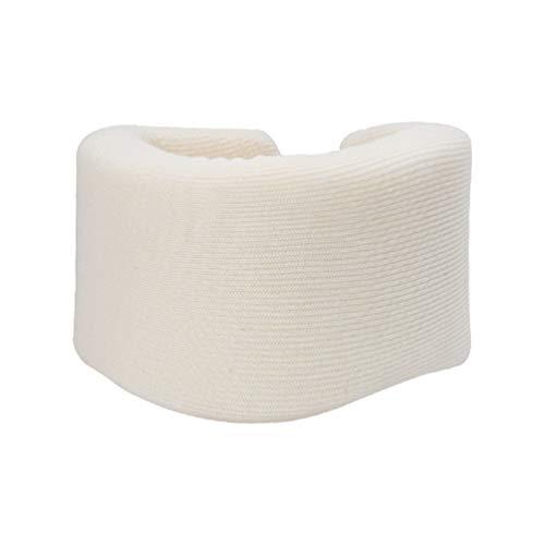 EXCEART Collar Cervical Universal Cuello Ortopédico Espuma Soporte Cervical Vértebras Envoltura de Latigazo Cervical para Aliviar El Dolor de Cuello White S