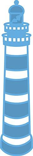 Marianne Design LR0231 Phare Creatables, Métal, Bleu, 2 x 9,2 x 0,4 cm