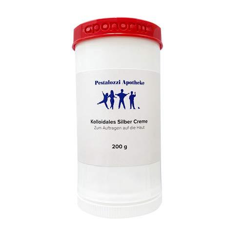 Kolloidales Silber Creme (200 g) aus Apotheken-Herstellung - hochwertige Qualität - bewährte Originalrezeptur Silbercreme Pestalozzi-Apotheke