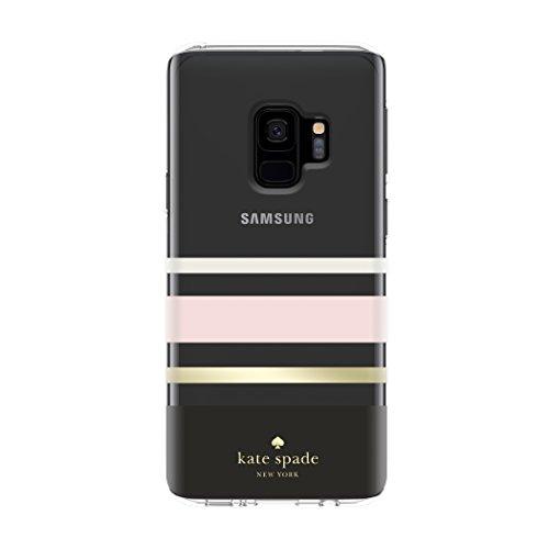 kate spade New York Schutzhülle für Samsung Galaxy S9 - Multi Blossom Pink/Clear/Gold mit Steinen