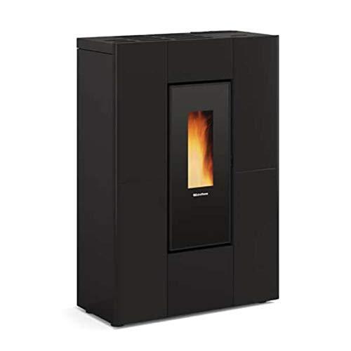 Estufa de pellets extrallama, modelo Marilena Plus AD, color negro
