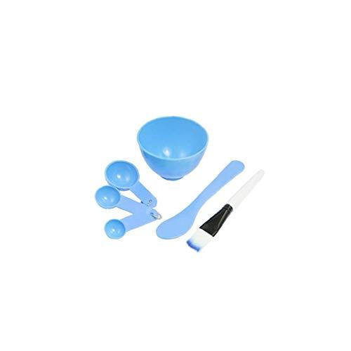 4 en 1 Masque bol à mélanger Ensemble de visage en plastique Masque outil avec masque facial bol bâton brosse jauge cuillère pour la modélisation de mélange Masque Clay Diy