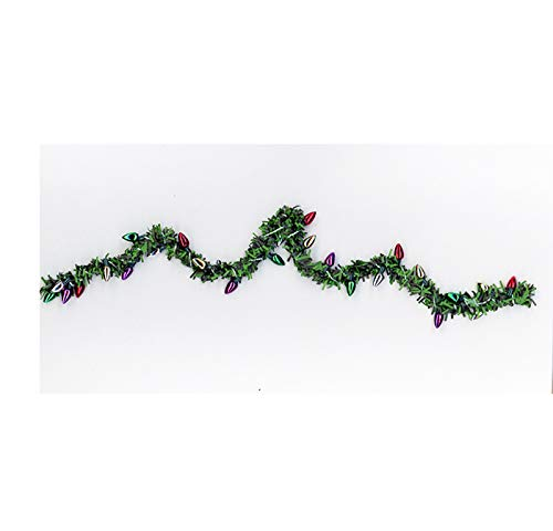 Dollhouse Miniature Christmas Holiday Balsam Green Garland with Lights