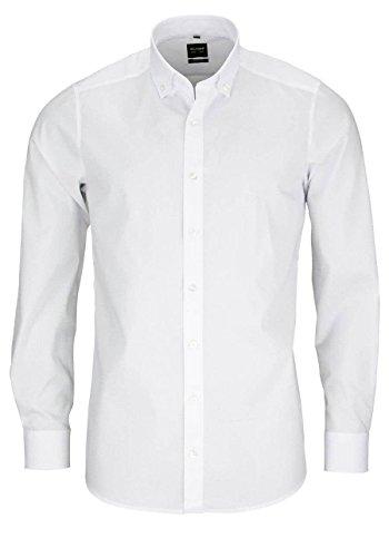 OLYMP Level Five Body fit Chemise à manches longues boutonnée Down Stretch Blanc - Blanc - 38