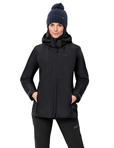 Jack Wolfskin Damen Garnet Pass 3IN1 W 3in1-jacke, Black, XL