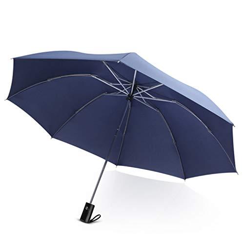 DORRISO Automatico Inverso Pieghevole Ombrello Manico Antiscivolo Antivento Impermeabile Anti-UV Asciugatura Rapida Multiuso Viaggio Lavoro Auto Ombrello Uomo Donna Ombrello