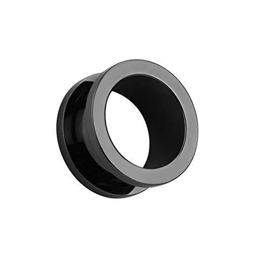 Ruby569y Dangle Earrings for Women Girls,1Pc Unisex Double Flared Ear Plug Piercing Flesh Tunnel Expander Jewelry Gift - Black 4mm
