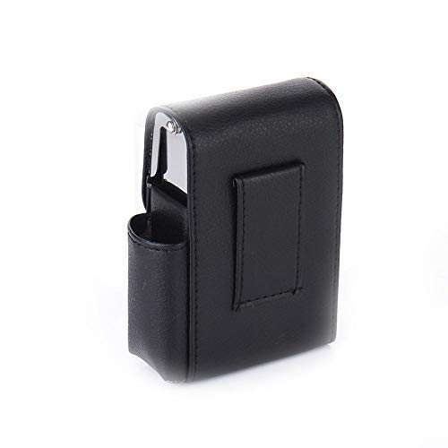 SNIIA PU-Leder Zigarettenschachtel Fall mit Pouch Feuerzeug Halter Schiebe Zigarettenetui Wallet Design für Zigarettenanzünder-Visitenkarte