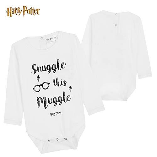 Harry Potter Ropa Bebe Niño Niña, Conjunto Body Bebe Manga Larga Pantalon y Gorro, Ropa 100% Algodon Recien Nacido Regalo Bebe Niño y Niña 0-18 Meses (Rayas Granates, 12-18 Meses)