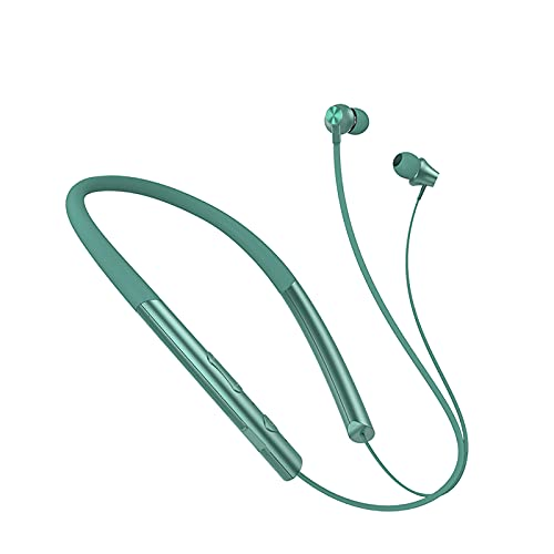 Neckband Bluetooth Headphones Wireless Earbuds 5.0 CVC 8.0 Waterproof Sport Earphones Noise Cancelling Headset with Mic for Running, Driving, Working Compatible with Magnetic