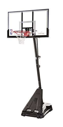 "Spalding NBA Hercules Portable Basketball Hoop - 54"" Acrylic Backboard, Black Base"
