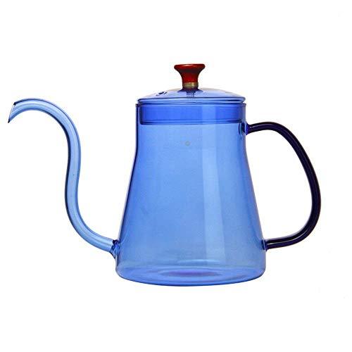 Het gieten van de koffie theepot Koffie Ketel Giet over Drip Coffee Pot zwanenhals Tuit Coffee Drip Kettle Hoge Borosilicate Werkzaamheden aan elektrische keramische kookplaat hittebestendige Koffieze