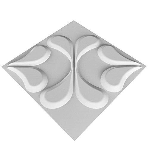 3D Wandpaneele Wasserdichtes haltbare Petal Textur Wandgestaltung, für Wohnzimmer Schlafzimmer Hintergrund Wanddekoration (10Panels, Sub-weiß)