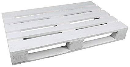 Dydaya 4 Palets Europeos Blancos de 80x120 de Madera Lijados y Pintados de Blanco para Muebles y Decoración, para Terraza, Jardin, Patio, Exterior - Interior