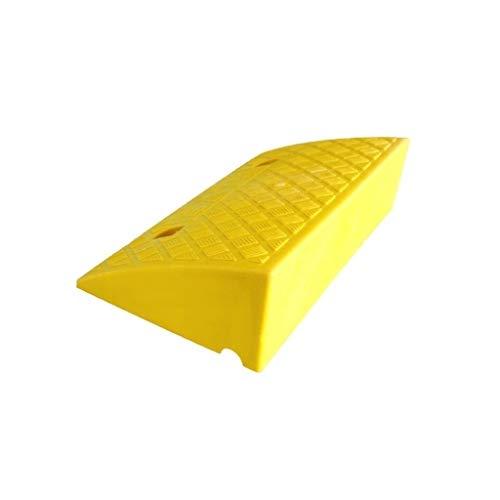Rampas antideslizantes, almohadilla de plástico para alza de coche, rampas de seguridad para bicicleta, motocicleta, altura: 10,5 cm / 13,2 cm, plástico, Amarillo, 49.5*26.5*13.2CM