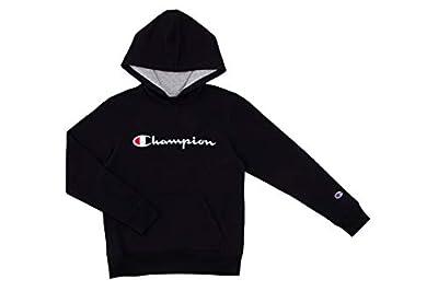 Champion Kids Clothes Sweatshirts Youth Heritage Fleece Pull On Hoody Sweatshirt with Hood (Medium, Heritage Black)