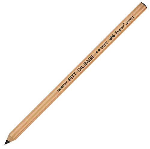 Faber-Castell PITT Monochrome Artists' Pencil, Black, Oil Base, No. 2 Soft