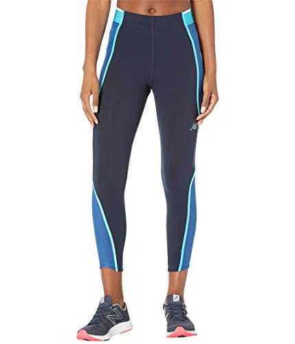 New Balance Q Speed Fuel Novelty 7/8 Tight, Captain Blue, X-Large
